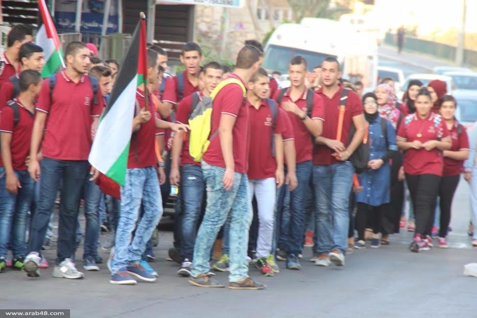 البعينة نجيدات: مسيرة طلابية إحياء لذكرى هبة القدس والأقصى