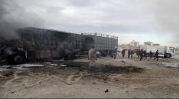 سوريا: مقتل 7 بقصف جوي روسي لسيارات مساعدات تركية