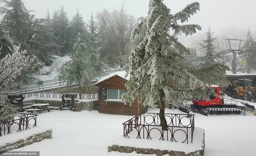 تراكم الثلوج في جبل الشيخ