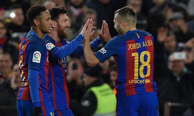 ميسي يقود برشلونة لربع نهائي كأس ملك إسبانيا