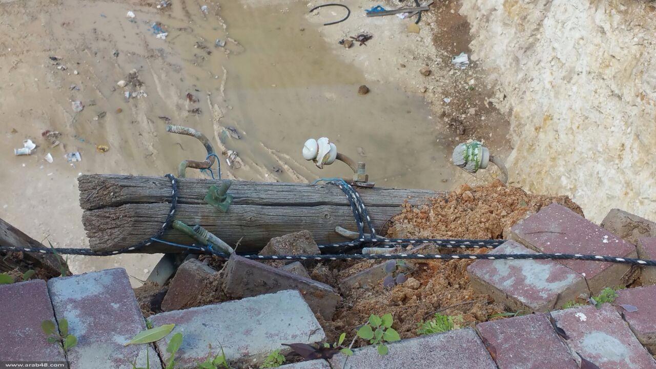 الطيبة: انهيار جزء من جبل في حي سكني
