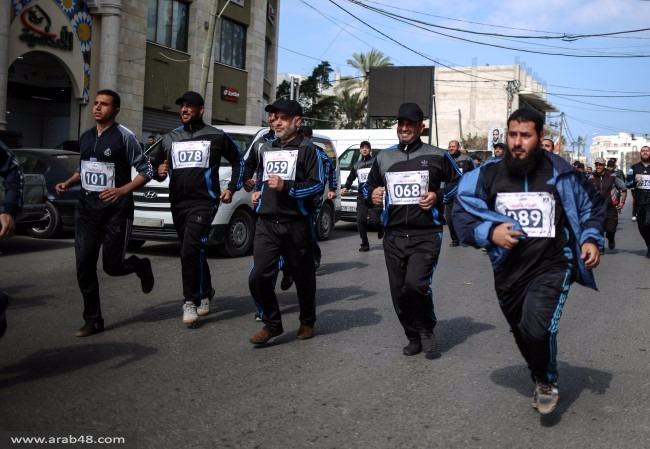 ماراثون للتضامن مع الأسرى الفلسطينيين بسجون الاحتلال في غزة