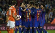 برشلونة يدك شباك أوساسونا بسباعية مقابل هدف