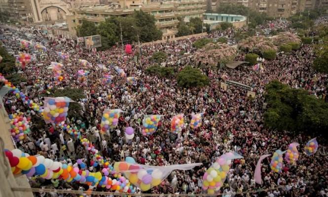 شوارع القاهرة في أول أيام الفطر (أ ف ب)
