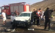 مصرع شخصين وإصابة 5 بجراح متفاوتة بحادث طرق في النقب