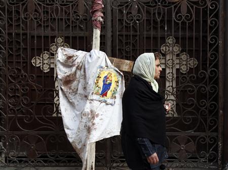 تفجير  الاسكندرية: الانتحاري كان يريد ان يفجر نفسه داخل الكنيسة