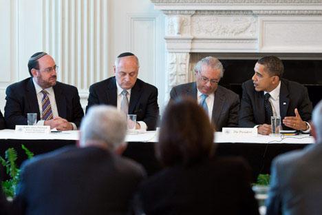 """أوباما يجدد دعمه لأمن إسرائيل ويدعو لمراجعة مواقفها من """"عملية السلام"""""""