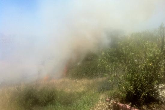 حريق بالقرب من مساكن الطلبة في الجامعة العبرية
