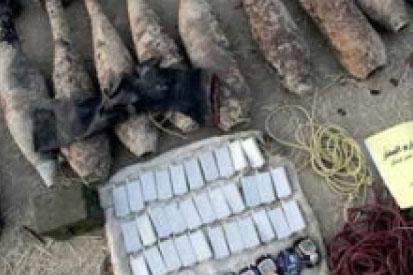 الأمن المصري يضبط مخزن متفجرات في سيناء