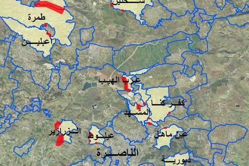 تحذيرات من سلخ 7,500 دونم من بلدات عربية لصالح مجالس إقليمية يهودية