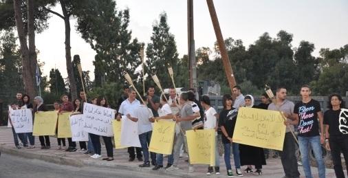 (فيديو) تجمع الناصرة يحيي هبة القدس والأقصى بتظاهرة امام مركز الشرطة