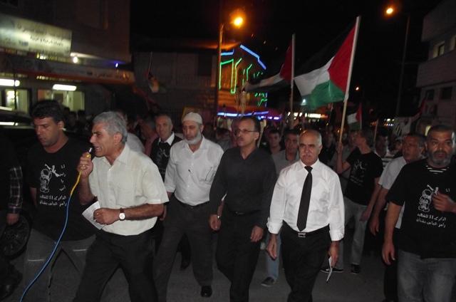 كفر مندا تحيي ذكرى شهيدها و شهداء هبة القدس والأقصى بمسيرة حاشدة