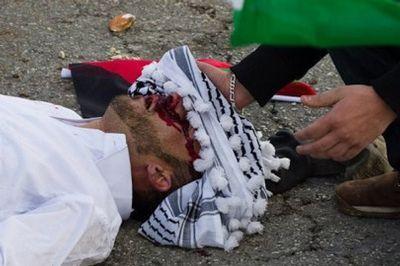 استشهاد الشاب مصطفى التميمي الذي اصيب امس في مسيرة النبي صالح
