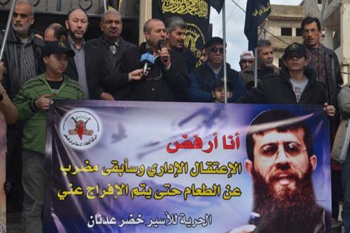 قراقع: جهود مصرية للإفراج عن الأسير عدنان خضر