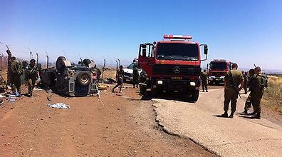 مصرع جندي اسرائيلي واصابة 3 اخرين لدى انقلاب مركبتهم العسكرية  على الشريط الحدودي في الجولان المحتل