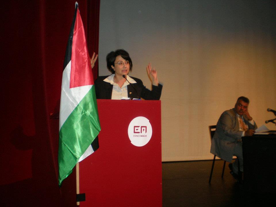 حنين زعبي تلتقي الجالية الفلسطينية في بلجيكا