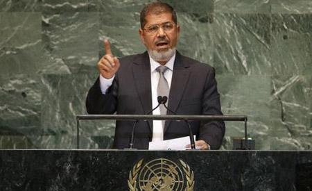مرسي: على المجتمع الدولي أن يتحرك لوقف الاستيطان وتهويد القدس