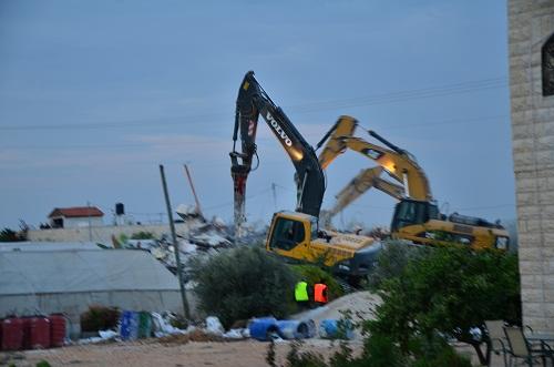 تعزيزات من شرطة إسرائيل تغطي عملية هدم بيت في جت المثلث