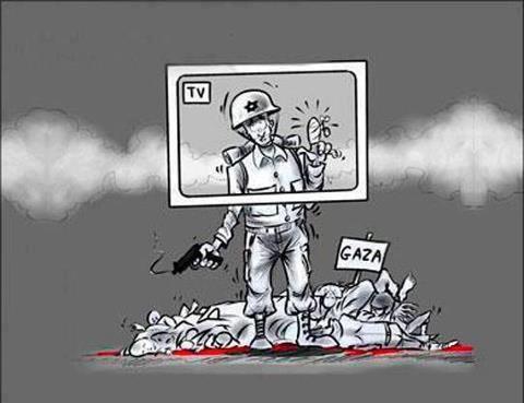 كاريكاتير: الانحياز الإعلامي الغربي لإسرائيل
