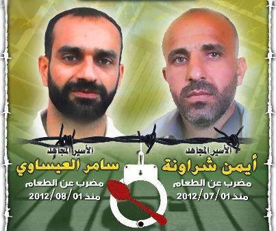 الأسرى ينفذون إضراباً عن الطعام غداً تضامناً مع الشراونة والعيساوي