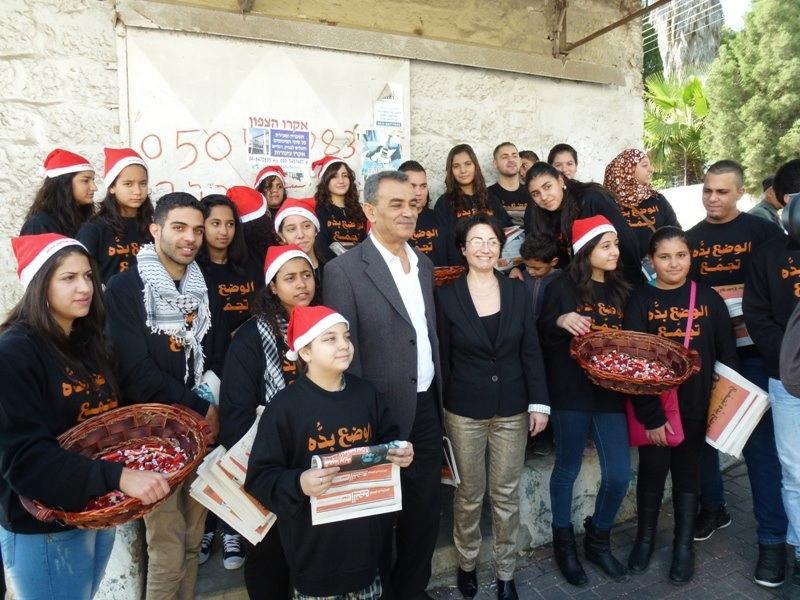 الناصرة برتقالية: احتضان جماهيري واسع لمرشحي التجمع خلال جولة العيد