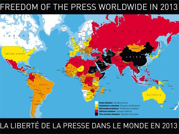 تراجع إسرائيل إلى المرتبة 112 في معيار حرية الصحافة