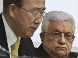"""بان كيمون """"دولة فلسطين"""" في أروقة الامم المتحدة وليس بالمفاوضات مع اسرائيل"""