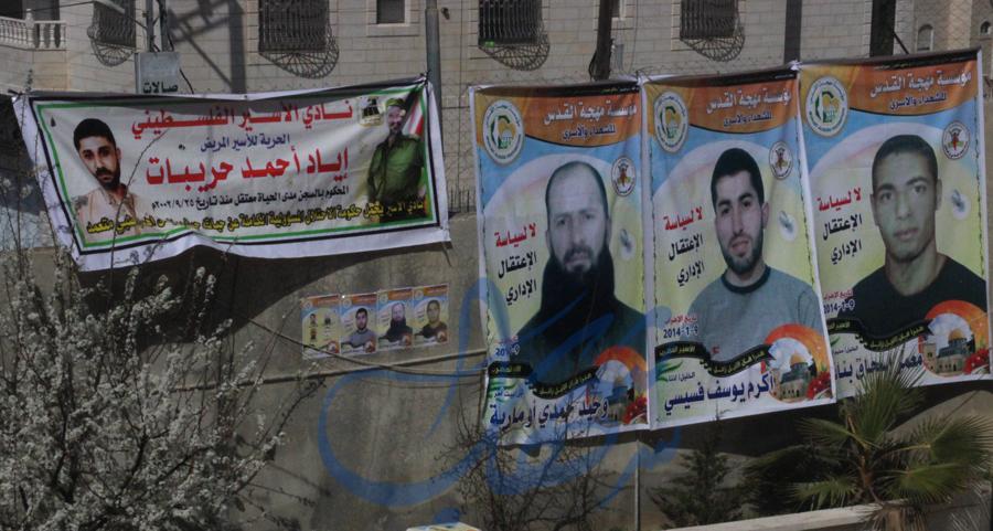 ارتفاع عدد الأسرى الاداريين المضربين عن الطعام الى 7 اسرى