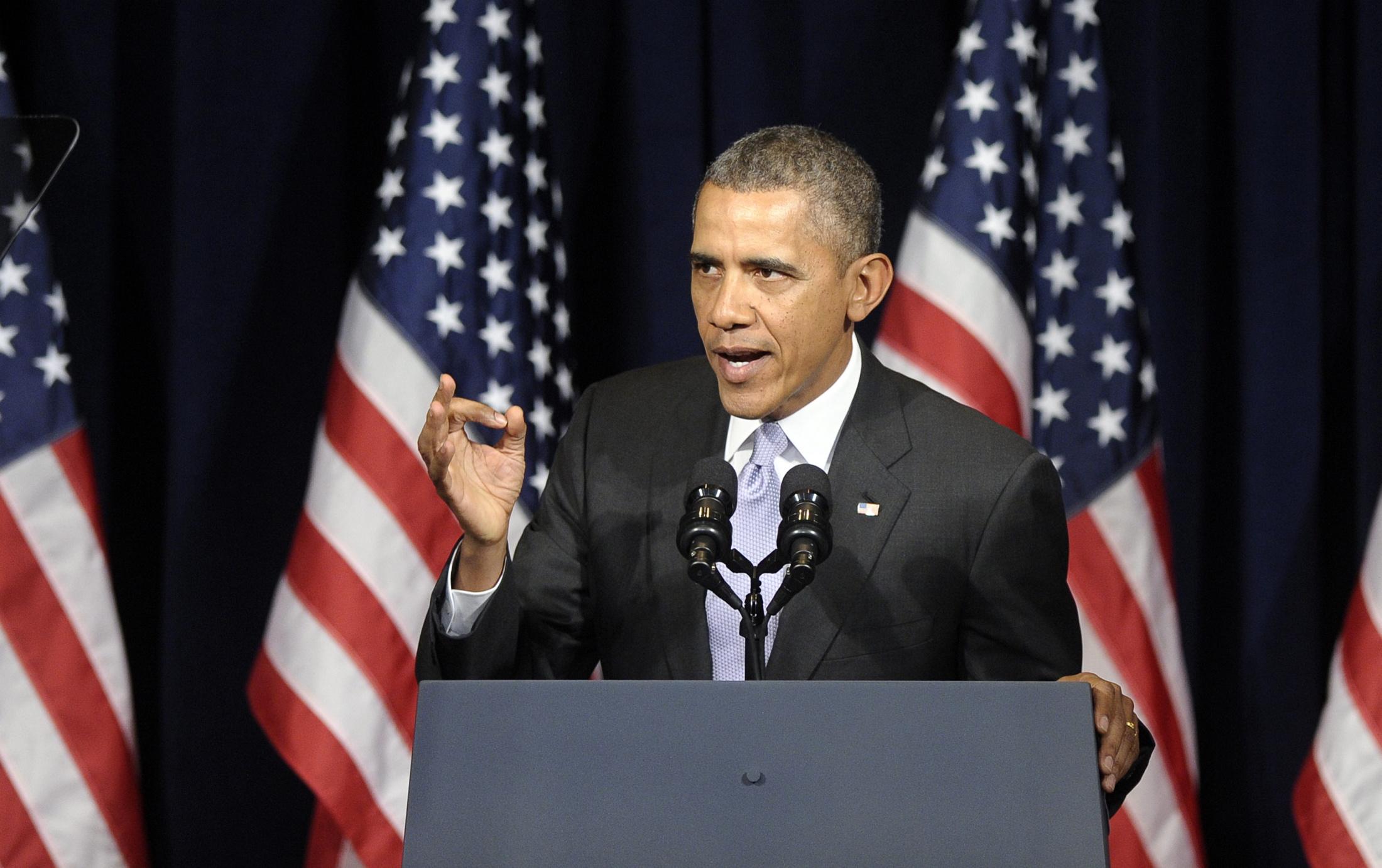 اوباما: ساقول لنتنياهو ان وقت اسرائيل بالتوصل لاتفاق على اساس دولتين اخذ بالنفاذ