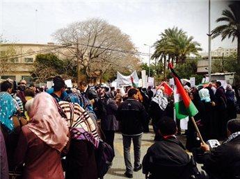 نساء غزة يطالبن برفع الحصار وانهاء الانقسام