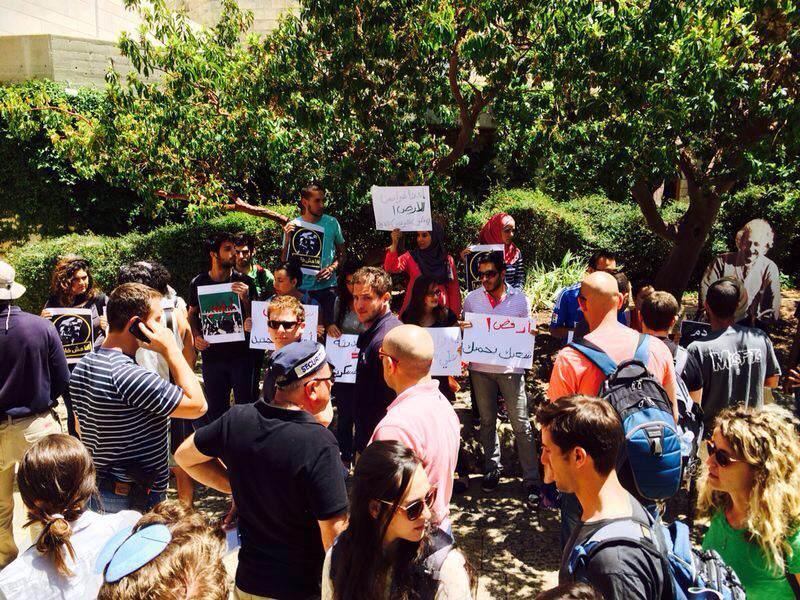 ردود فعل مستنكرة للاعتداء على الطلاب العرب في الجامعة العبرية