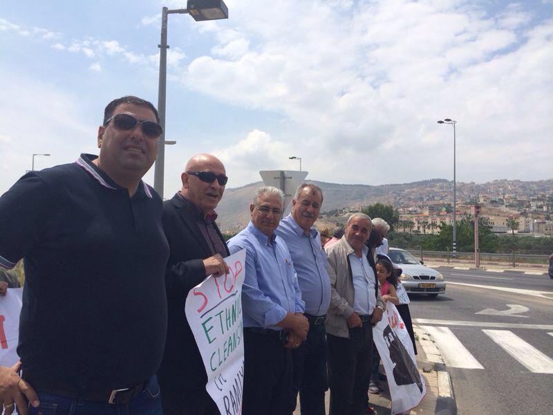 كرميئيل: تظاهرة مساندة لأهالي رمية