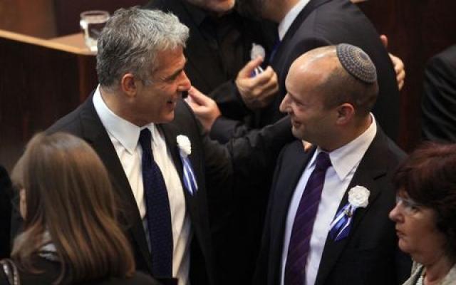 """تفاقم الخلافات بين حزبي """"البيت اليهودي"""" و""""ييش عتيد"""" المشاركين في ائتلاف نتنياهو"""