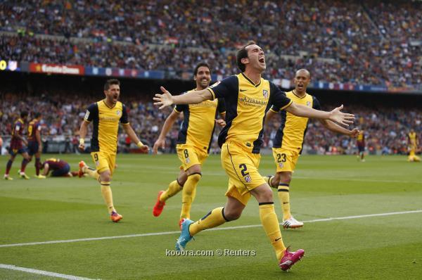 أتلتيكو مدريد ينتزع لقب الليجا من برشلونة