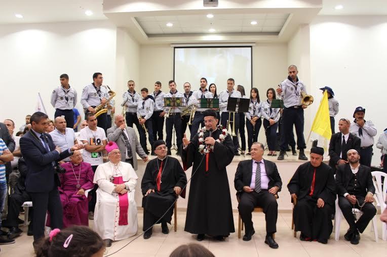 الناصرة: استقبال البطريرك الراعي بمسيرة من مدرسة السيلزيان إلى الكنيسة