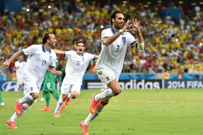 اليونان يتاهل لاول مرة في تاريخه على حساب ساحل العاج. ملخص الأهداف
