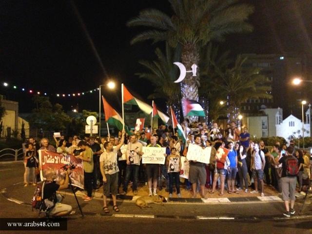 إطلاق سراح 3  نشطاء من حيفا شاركوا في مظاهرة ضد العدوان على غزة