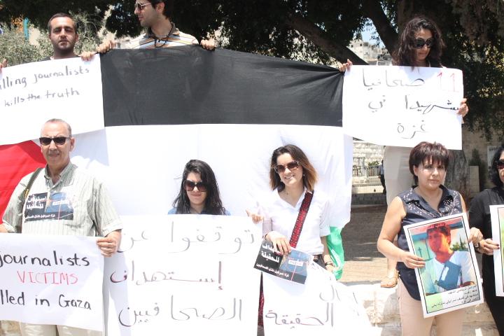 الإعلاميون الفلسطينيون في الداخل ينددون باستهداف إسرائيل لصحافيي غزة