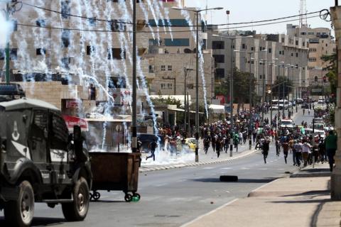 قمع مظاهرات وإصابات في مواجهات بين الفلسطينيين وقوات الاحتلال في الضفة