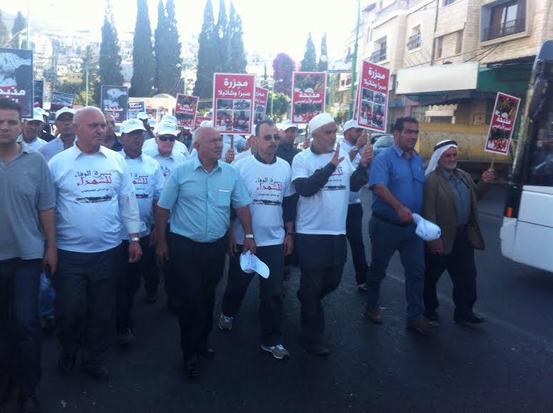 كفركنا: مسيرة الوفاء للشهداء إلى ضريح الشهيد خماسي