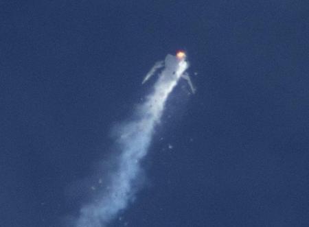 انتكاسة تصيب سياحة الفضاء بعد تحطم مركبة فضائية
