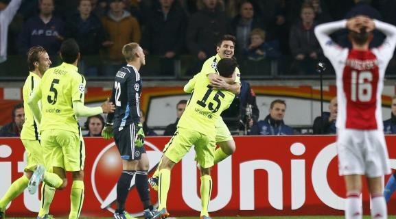 (فيديو) ميسي يقود برشلونة للتأهل لدور 16 في أبطال أوروبا