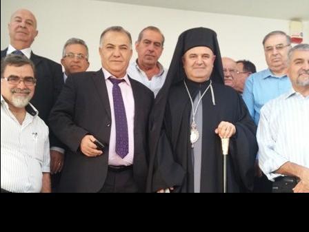المطران بقعوني مطران طائفة الروم الكاثوليك يزور بلدية الناصرة