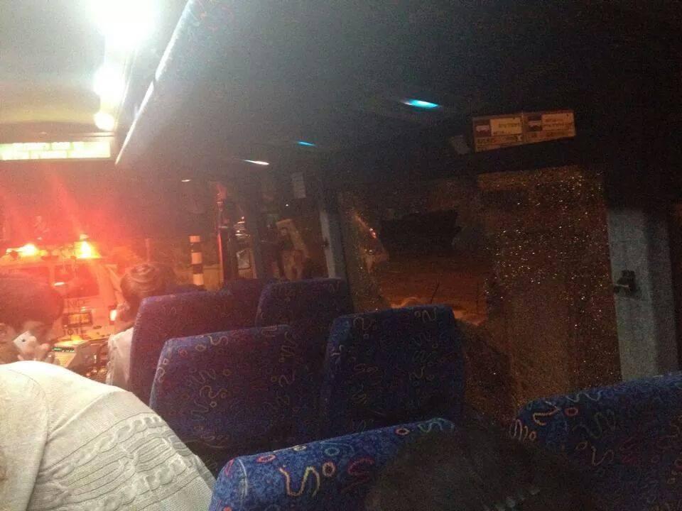 وادي عارة: إلقاء حجارة على حافلة