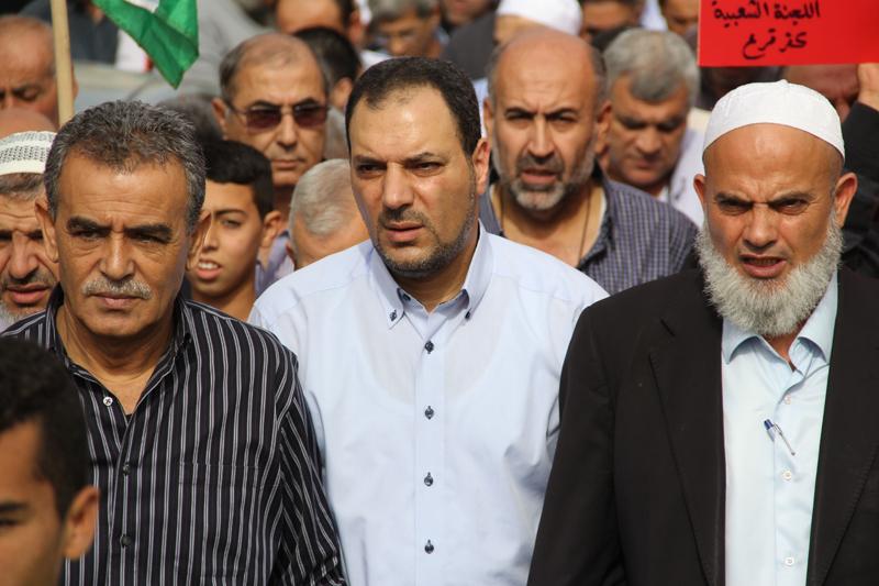 كفرقرع: المئات يتظاهرون نصرة للقدس والأقصى