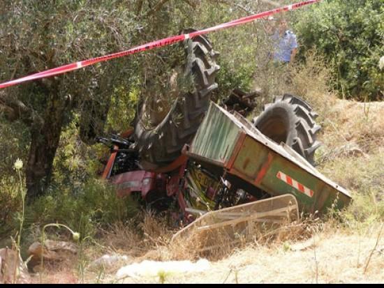 حرفيش: وفاة سائق الجرار الزراعي الذي أصيب ظهر اليوم