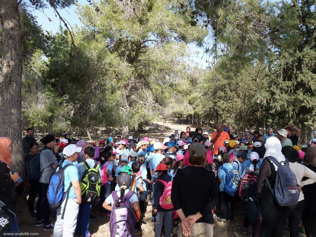 الآلاف من طلاب مدارس شفاعمرو يشاركون بمسيرة المشي التقليدية