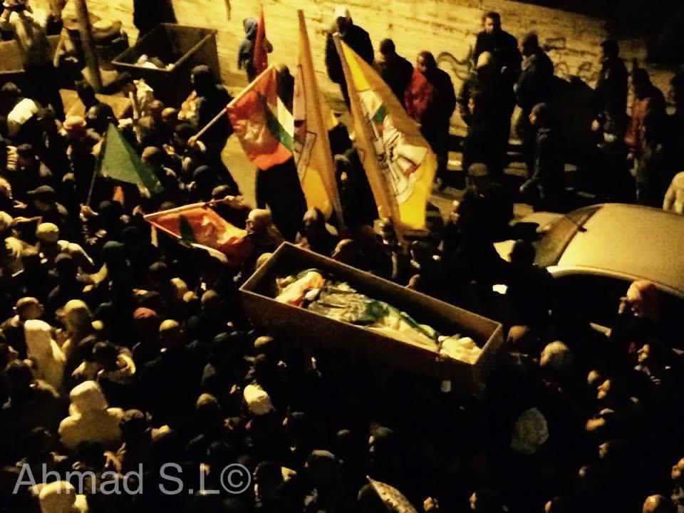 القدس: تشييع جثمان الشهيد الرموني في أبو ديس