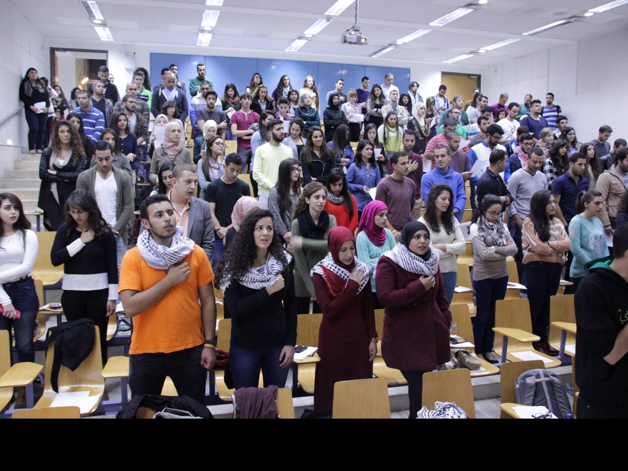 التجمع الطلابي بجامعة تل أبيب يفتتح العام الدراسي بأمسية سياسية فنية