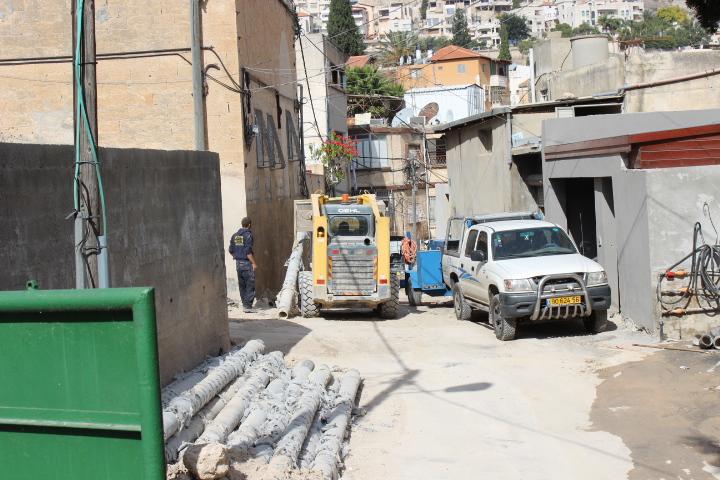 الناصرة: مشروع الصرف الصحي يعمق معاناة سكان حي اللاتين